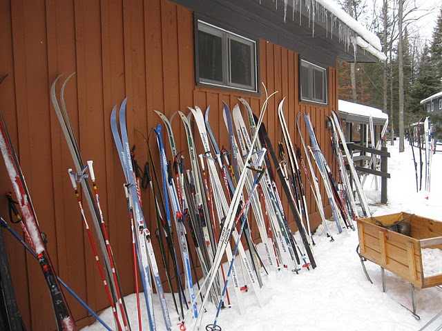 Outside the ski shack