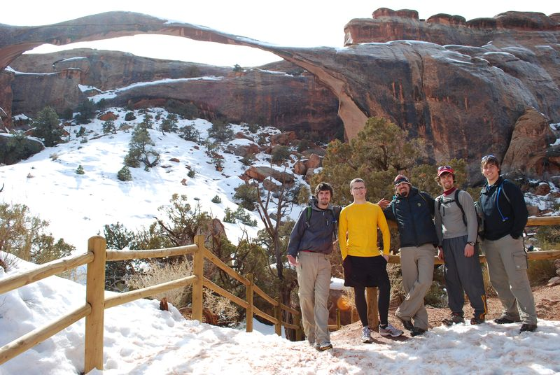 At Landscape Arch, Arches Natl Park