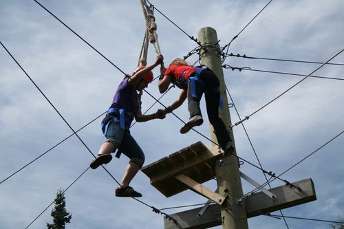 Copier Color Chain- Campers - High Ropes Course 057