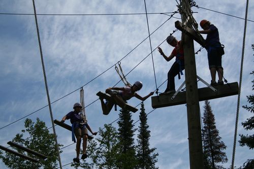 Copier Color Chain- Campers - High Ropes Course 041
