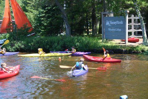 One-Week Campers learn to kayak!