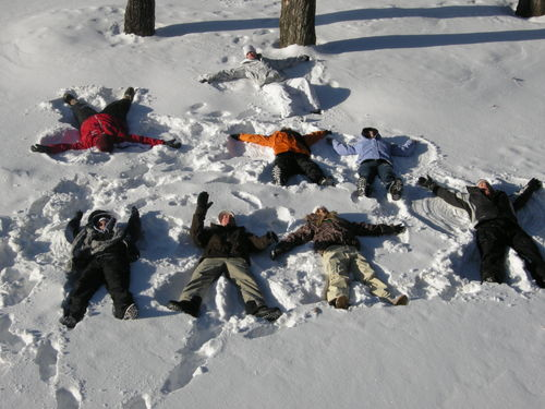 Aurora Scavenger Hunt Snow Angels