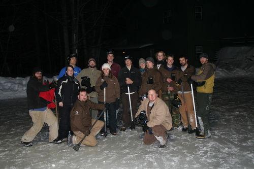 HoneyRock Broomball Tournament mixed crew