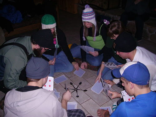 Playing Spoons in Bear's Den